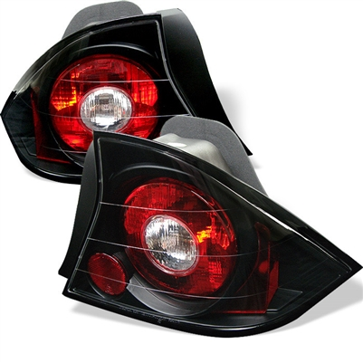 2001 2003 Honda Civic 2dr Euro Style Tail Lights Black